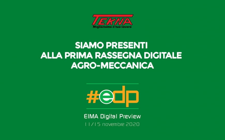 Tekna presente all' Eima Digital Preview dall'11 al 15 Novembre
